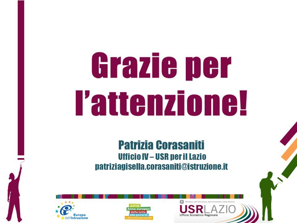 Patrizia Corasaniti Ufficio IV – USR per il Lazio patriziagisella.corasaniti@istruzione.it