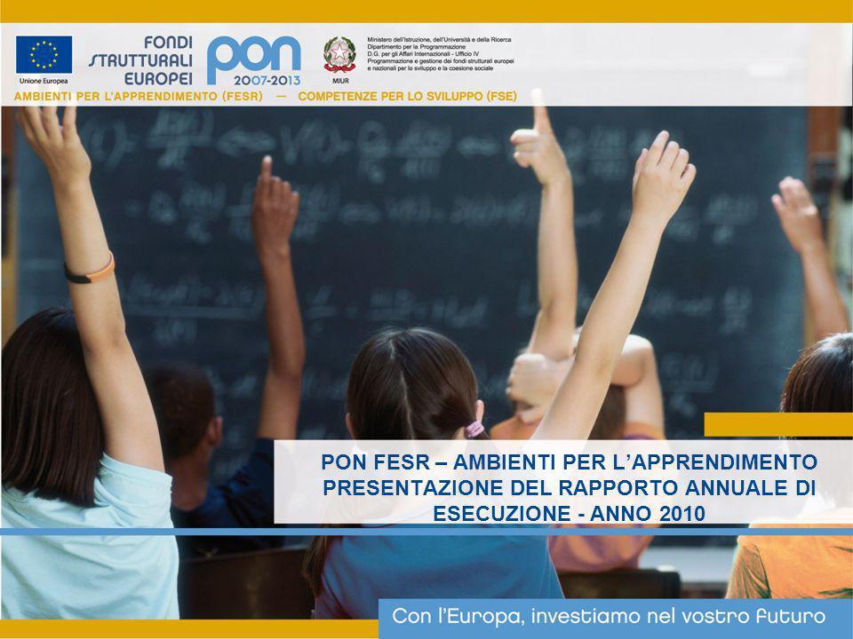 PON FESR – AMBIENTI PER LAPPRENDIMENTO PRESENTAZIONE DEL RAPPORTO ANNUALE DI ESECUZIONE - ANNO 2010