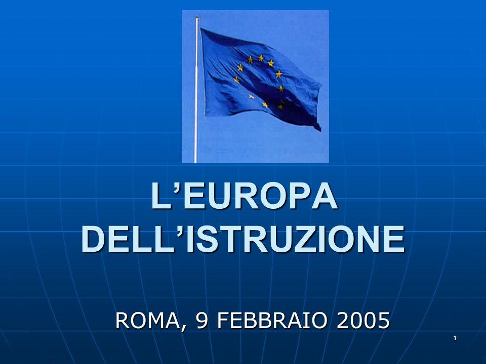 1 LEUROPA DELLISTRUZIONE ROMA, 9 FEBBRAIO 2005