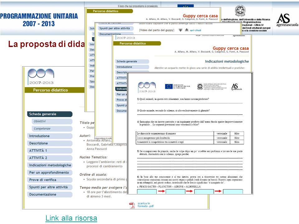 La proposta di didattica laboratoriale Link alla risorsa