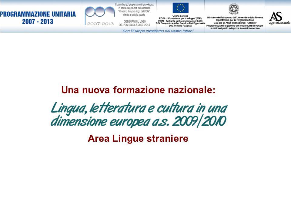Una nuova formazione nazionale: Area Lingue straniere