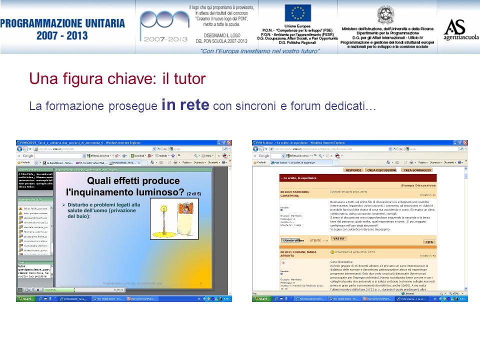 La formazione prosegue in rete con sincroni e forum dedicati… Una figura chiave: il tutor