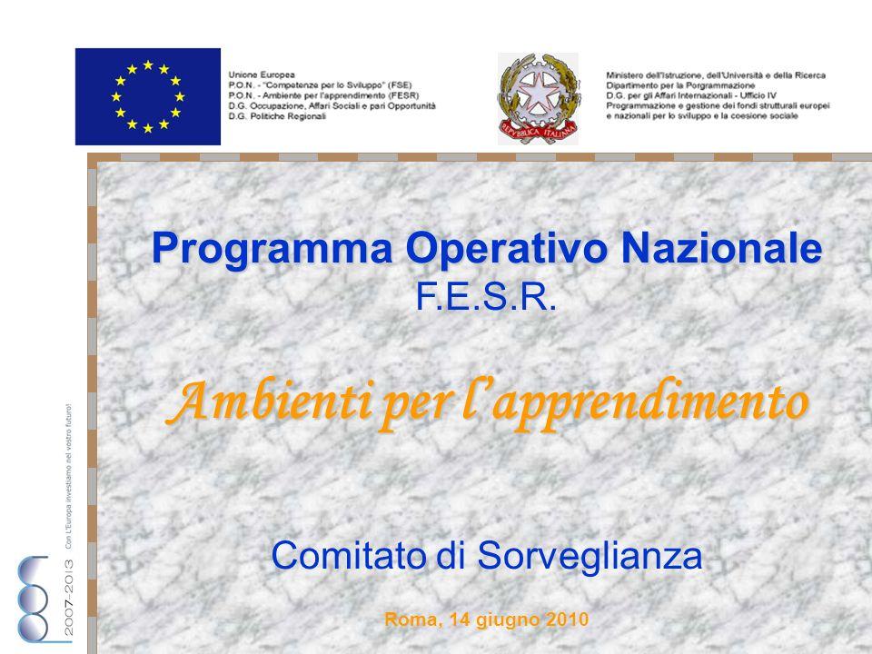 Programma Operativo Nazionale F.E.S.R.