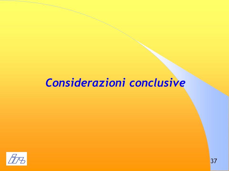 37 Considerazioni conclusive