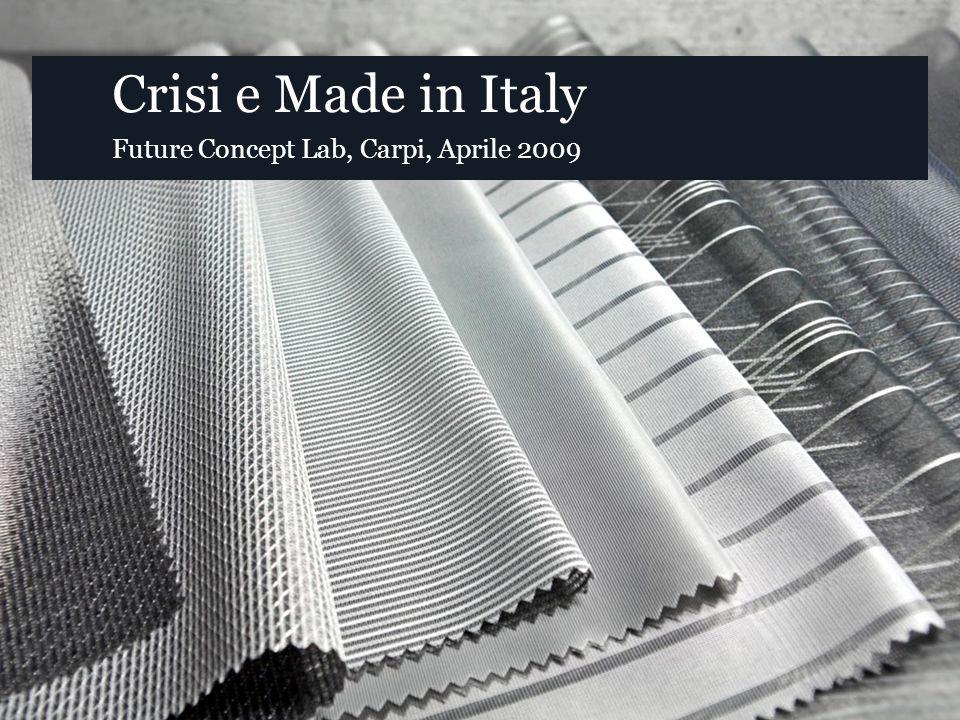 Crisi e Made in Italy Future Concept Lab, Carpi, Aprile 2009