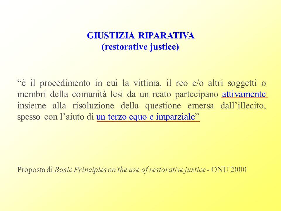 B) La riparazione materiale, la quale - fino a questo momento - è consistita nel risarcimento monetario dei danni subiti.