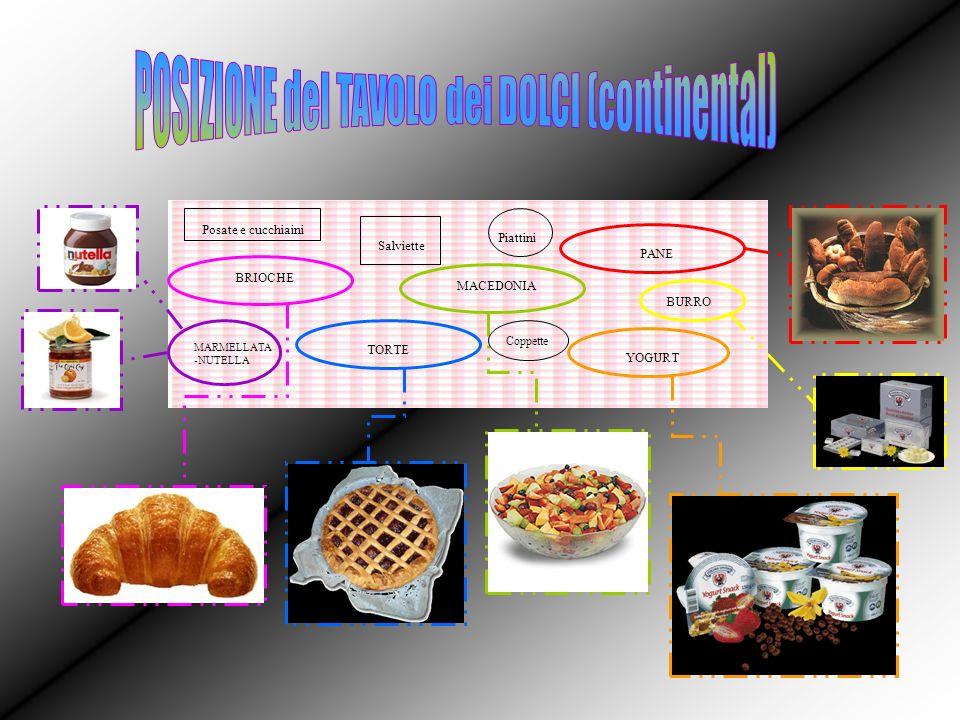 BRIOCHE TORTE MACEDONIA YOGURT MARMELLATA -NUTELLA PANE BURRO Salviette Coppette Posate e cucchiaini Piattini