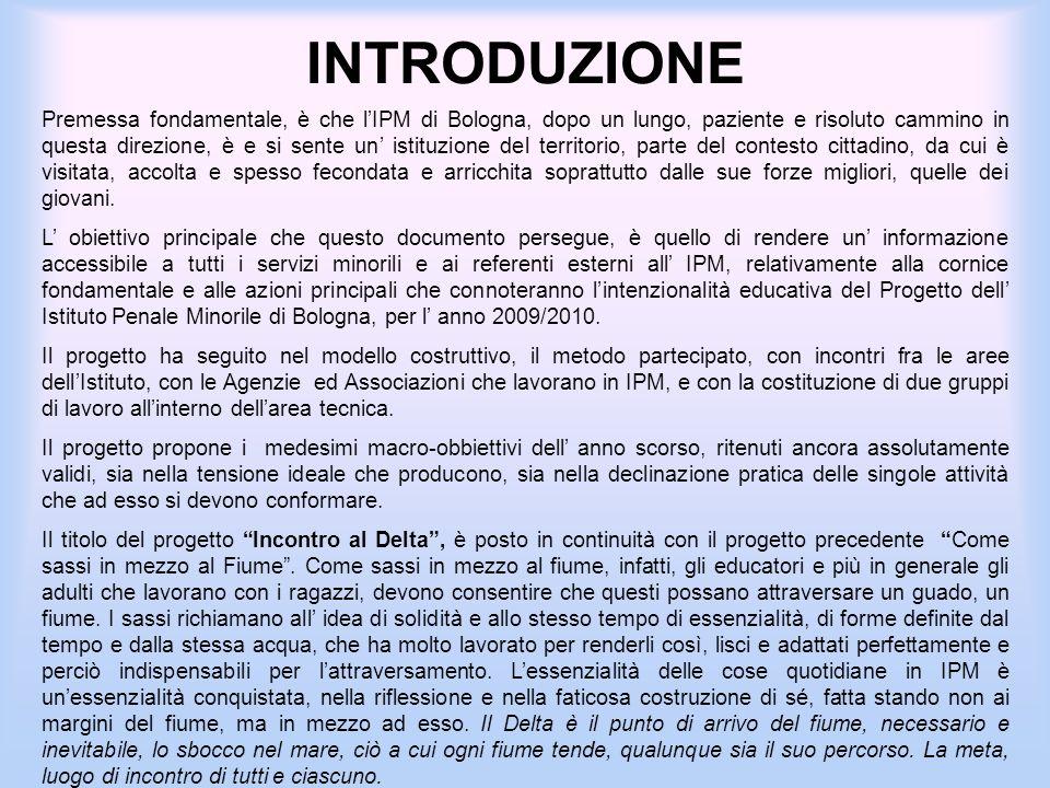 INTRODUZIONE Premessa fondamentale, è che lIPM di Bologna, dopo un lungo, paziente e risoluto cammino in questa direzione, è e si sente un istituzione