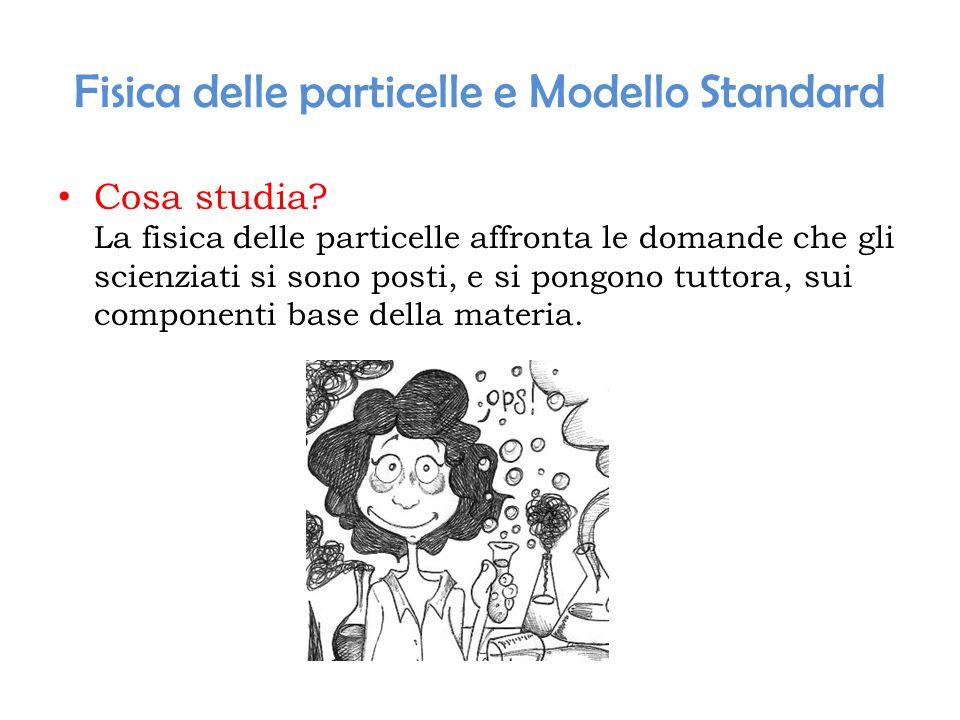 Fisica delle particelle e Modello Standard Cosa studia? La fisica delle particelle affronta le domande che gli scienziati si sono posti, e si pongono