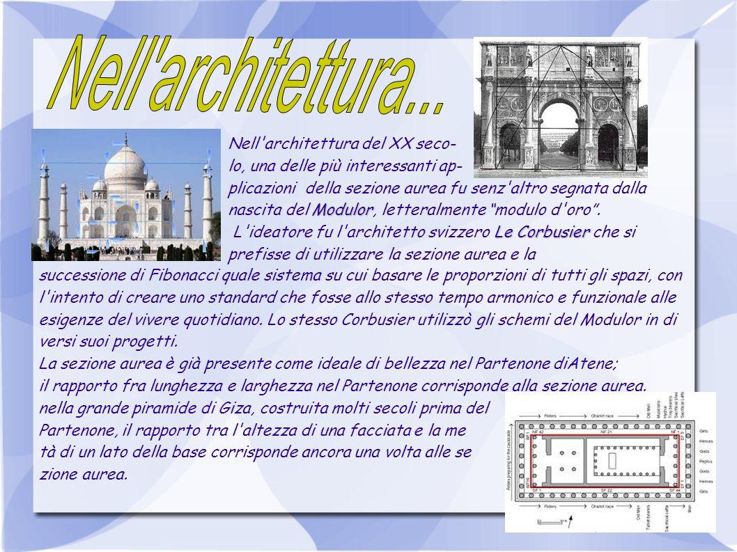Nell'architettura del XX seco- lo, una delle più interessanti ap- plicazioni della sezione aurea fu senz'altro segnata dalla Modulor nascita del Modul