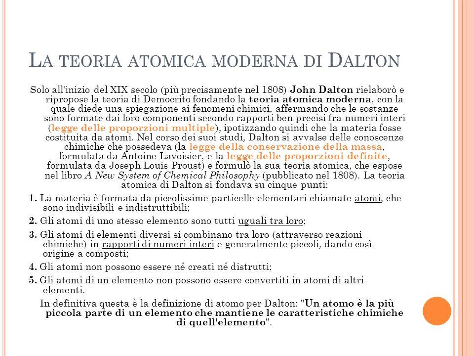 P RIMI MODELLI ATOMICI : T HOMSON … Con la scoperta della radioattività naturale, si intuì successivamente che gli atomi non erano particelle indivisibili, bensì erano oggetti composti da parti più piccole.