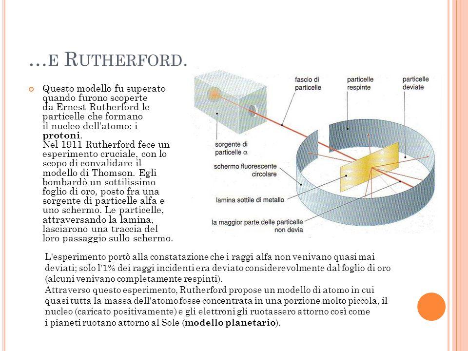N ASCE LA M ECCANICA Q UANTISTICA Il modello di Rutherford aveva incontrato una palese contraddizione con le leggi della fisica classica: secondo la teoria elettromagnetica, una carica che subisce una accelerazione emette energia sotto forma di radiazione elettromagnetica.