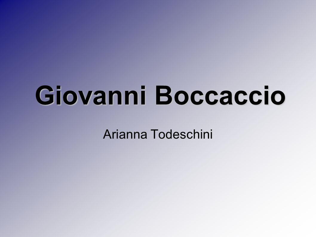 Giovanni Boccaccio Arianna Todeschini