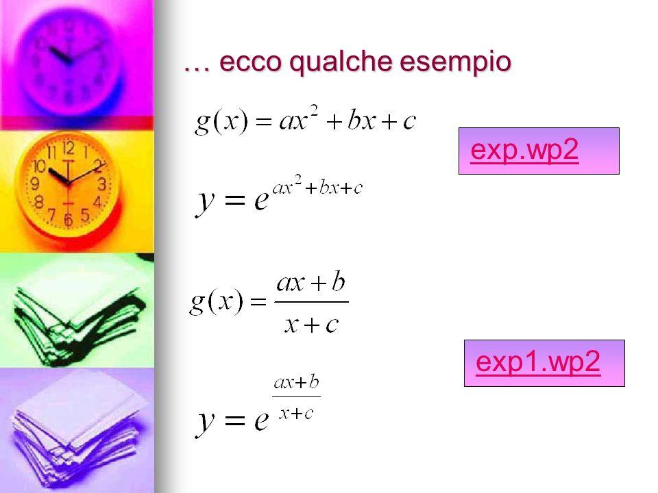 … ecco qualche esempio exp.wp2 exp1.wp2