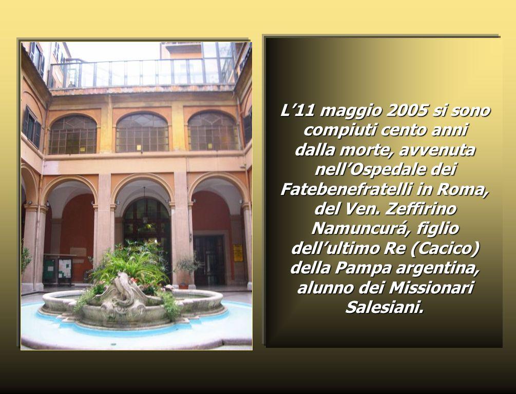 L11 maggio 2005 si sono compiuti cento anni dalla morte, avvenuta nellOspedale dei Fatebenefratelli in Roma, del Ven.