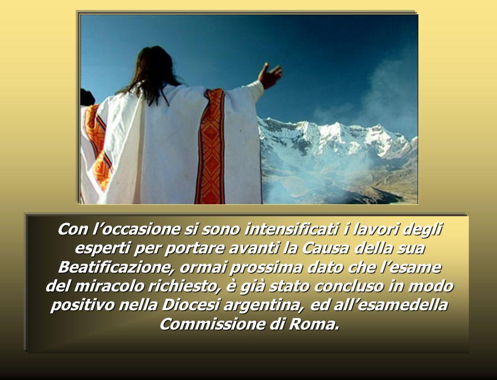 L11 maggio 2005 si sono compiuti cento anni dalla morte, avvenuta nellOspedale dei Fatebenefratelli in Roma, del Ven. Zeffirino Namuncurá, figlio dell