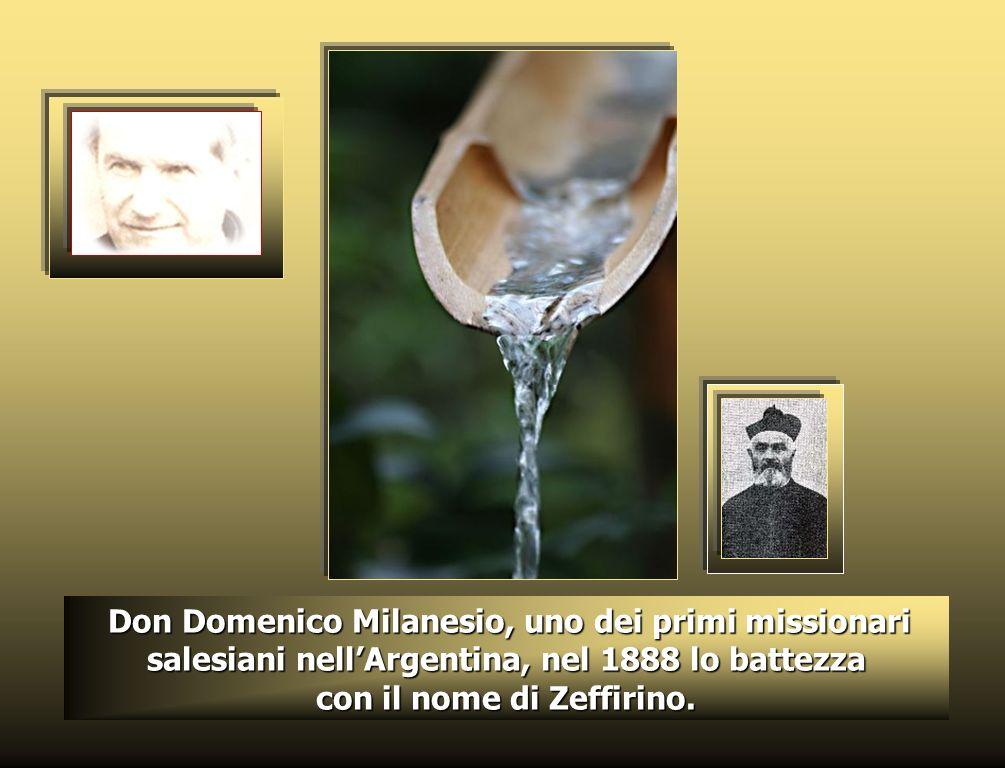 Zeffirino nasce il 26 agosto 1886 a Chimpay, in Patagonia, sesto di dodici figli, da Manuel Namuncurá, ultimo Re (Cacico) della Pampa, e dallaraucana
