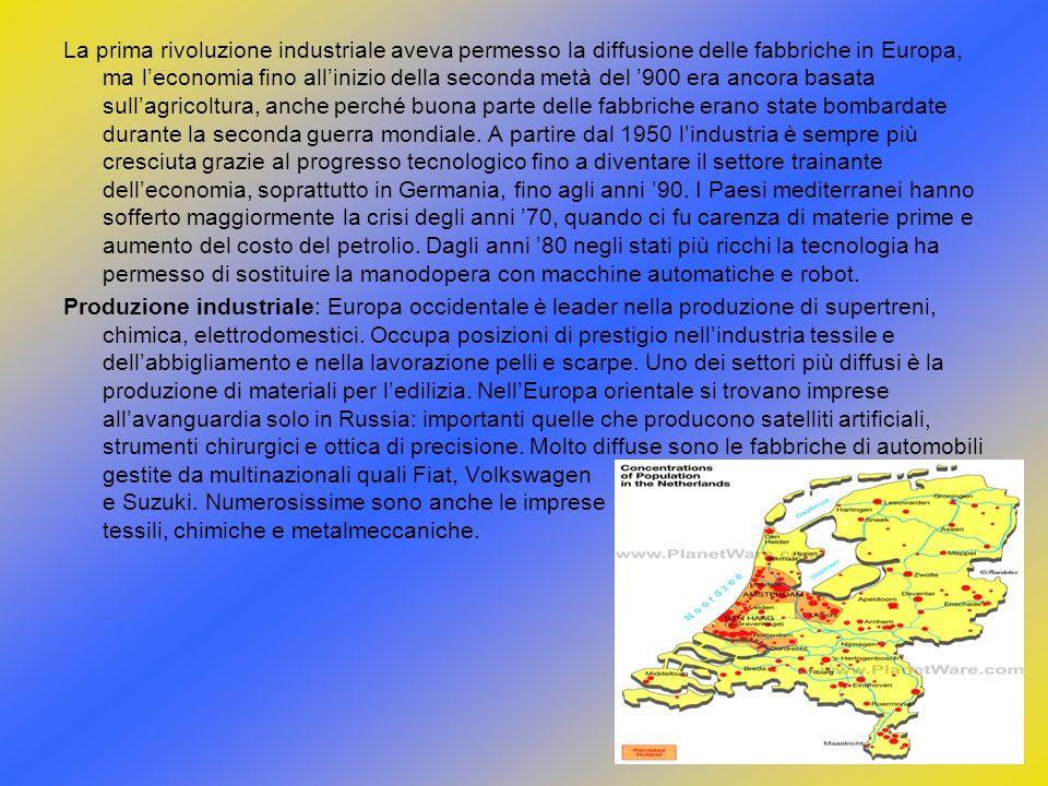 La prima rivoluzione industriale aveva permesso la diffusione delle fabbriche in Europa, ma leconomia fino allinizio della seconda metà del 900 era an