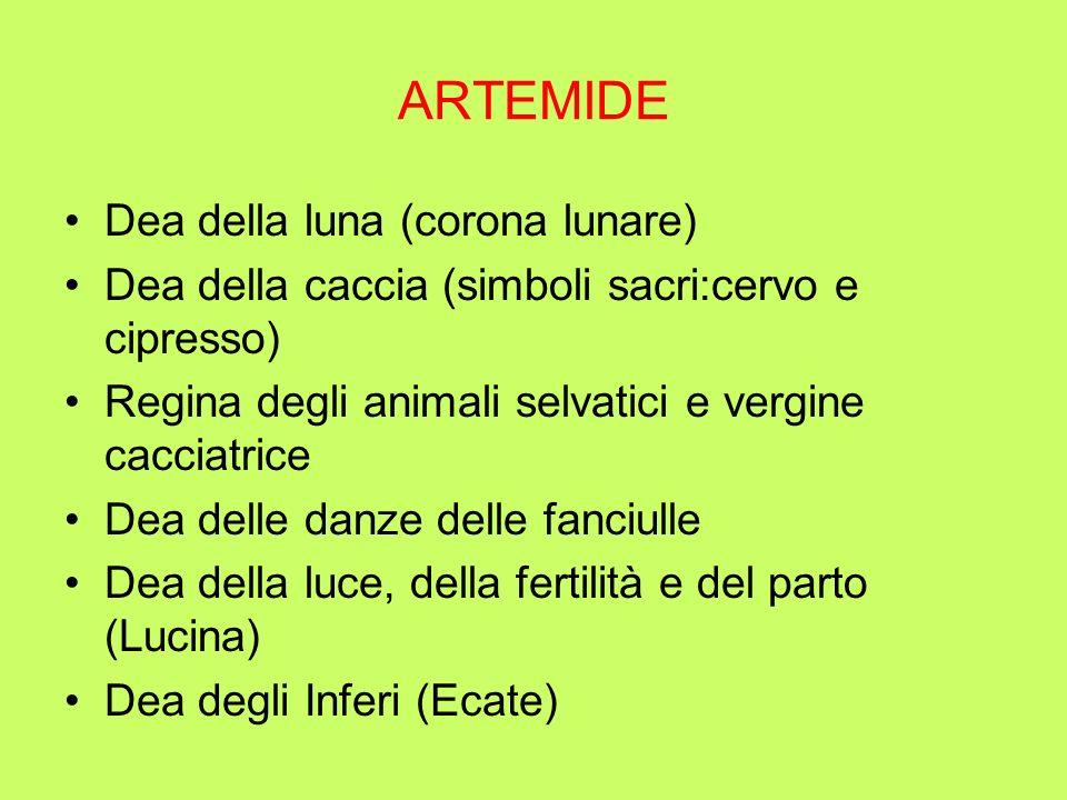 PLEIADI Taigete chiese laiuto di Artemide affinchè la aiutasse a sfuggire a Zeus; Venne trasformata in cerva da Artemide; Zeus la sedusse ugualmente e dallunione nacque Lacedemone, detto fondatore di Sparta.