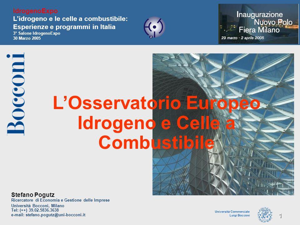 1 Stefano Pogutz Ricercatore di Economia e Gestione delle Imprese Università Bocconi, Milano Tel: (++) 39.02.5836.3638 e-mail: stefano.pogutz@uni-bocc