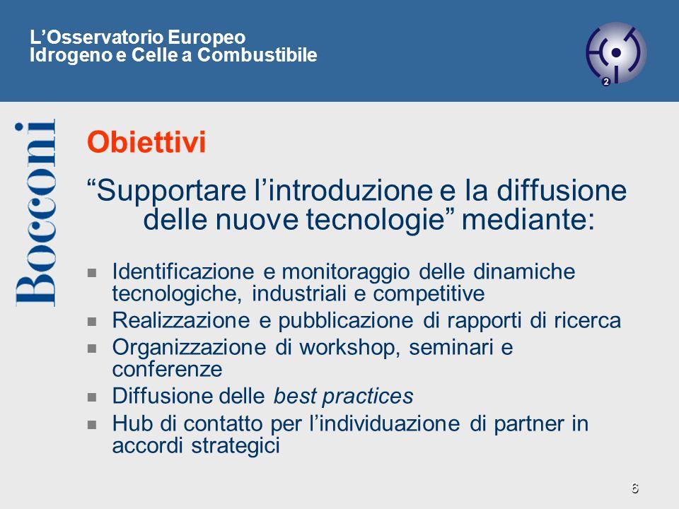 6 Supportare lintroduzione e la diffusione delle nuove tecnologie mediante: Identificazione e monitoraggio delle dinamiche tecnologiche, industriali e