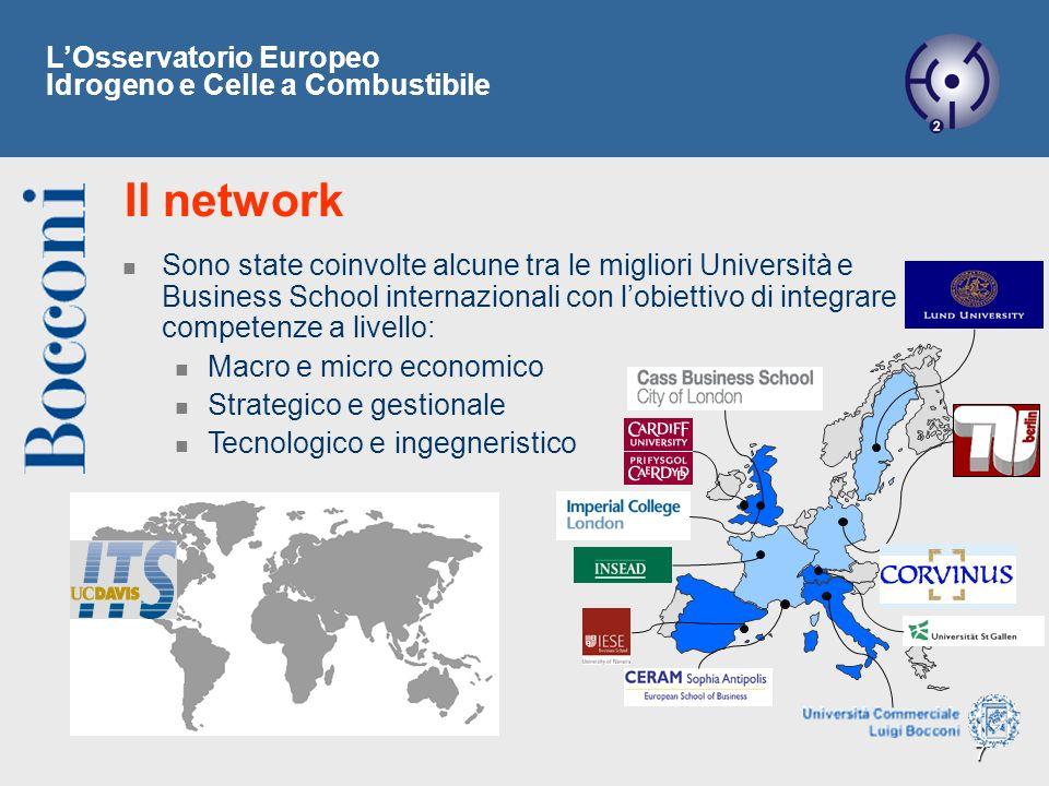 7 Il network Sono state coinvolte alcune tra le migliori Università e Business School internazionali con lobiettivo di integrare competenze a livello:
