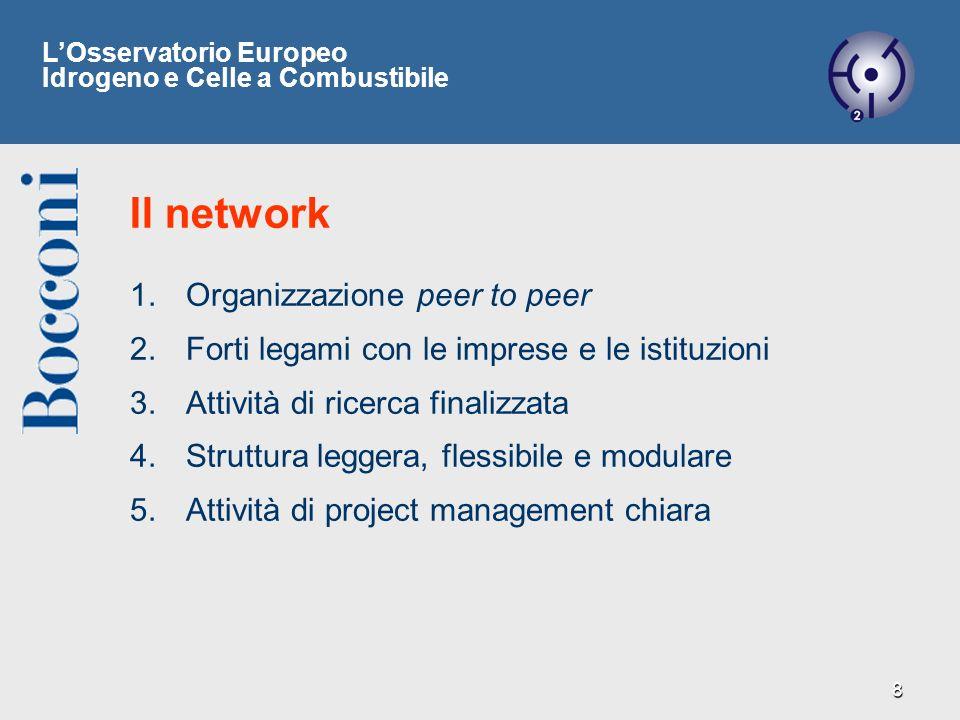 8 1. 1.Organizzazione peer to peer 2. 2.Forti legami con le imprese e le istituzioni 3. 3.Attività di ricerca finalizzata 4. 4.Struttura leggera, fles