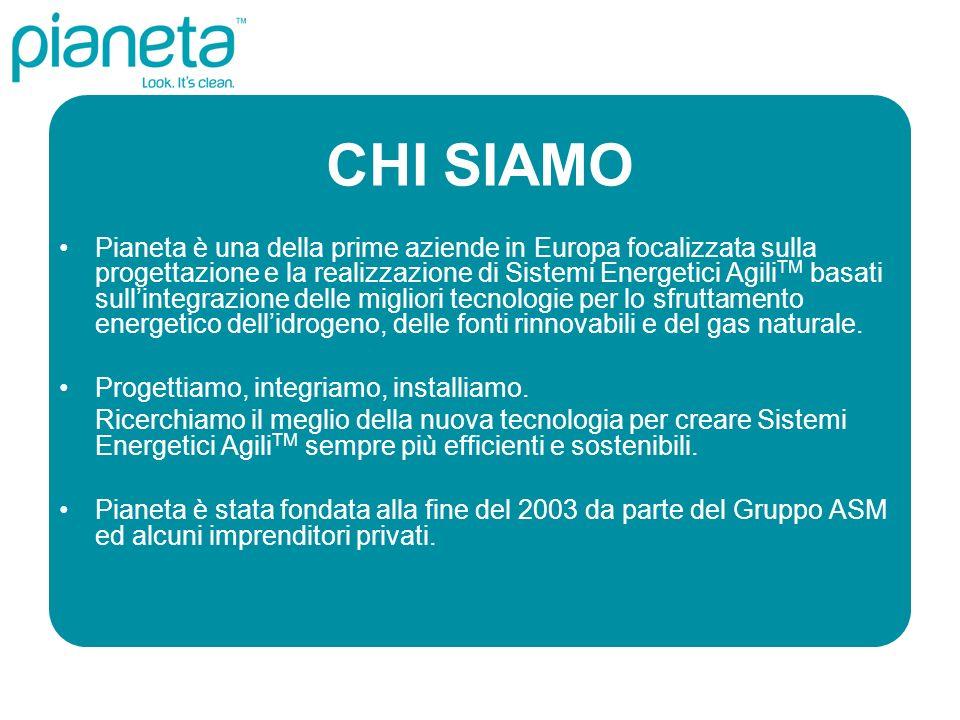 CHI SIAMO Pianeta è una della prime aziende in Europa focalizzata sulla progettazione e la realizzazione di Sistemi Energetici Agili TM basati sullint