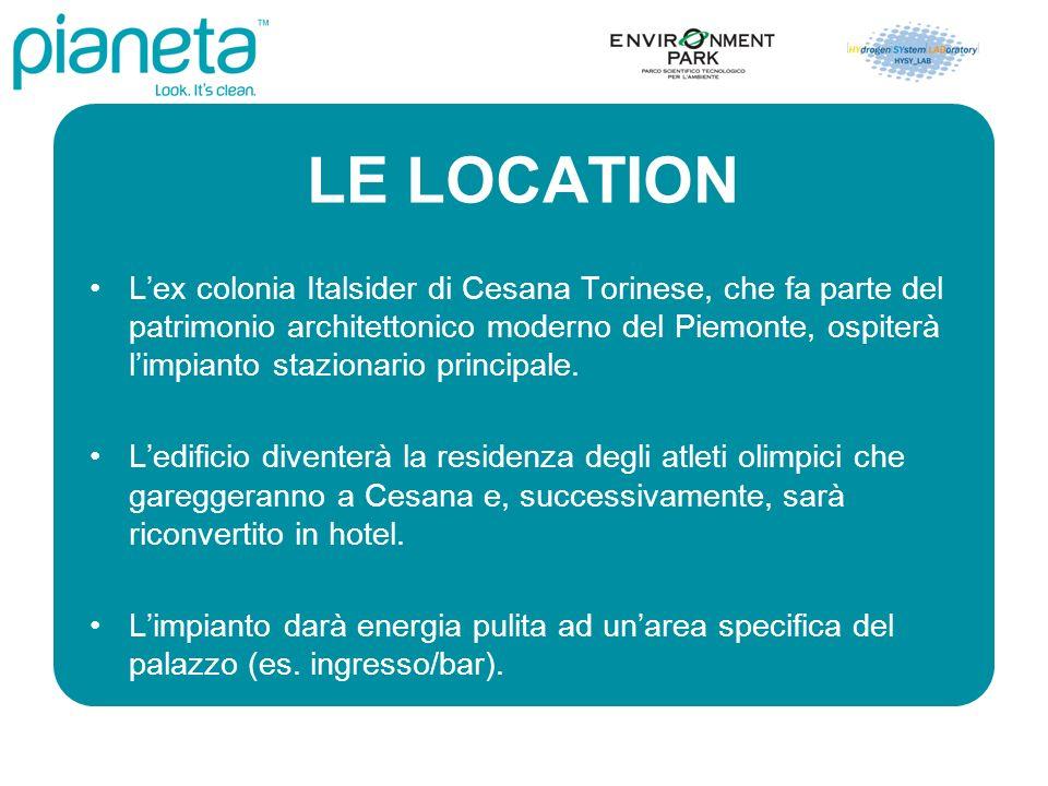 LE LOCATION Lex colonia Italsider di Cesana Torinese, che fa parte del patrimonio architettonico moderno del Piemonte, ospiterà limpianto stazionario principale.