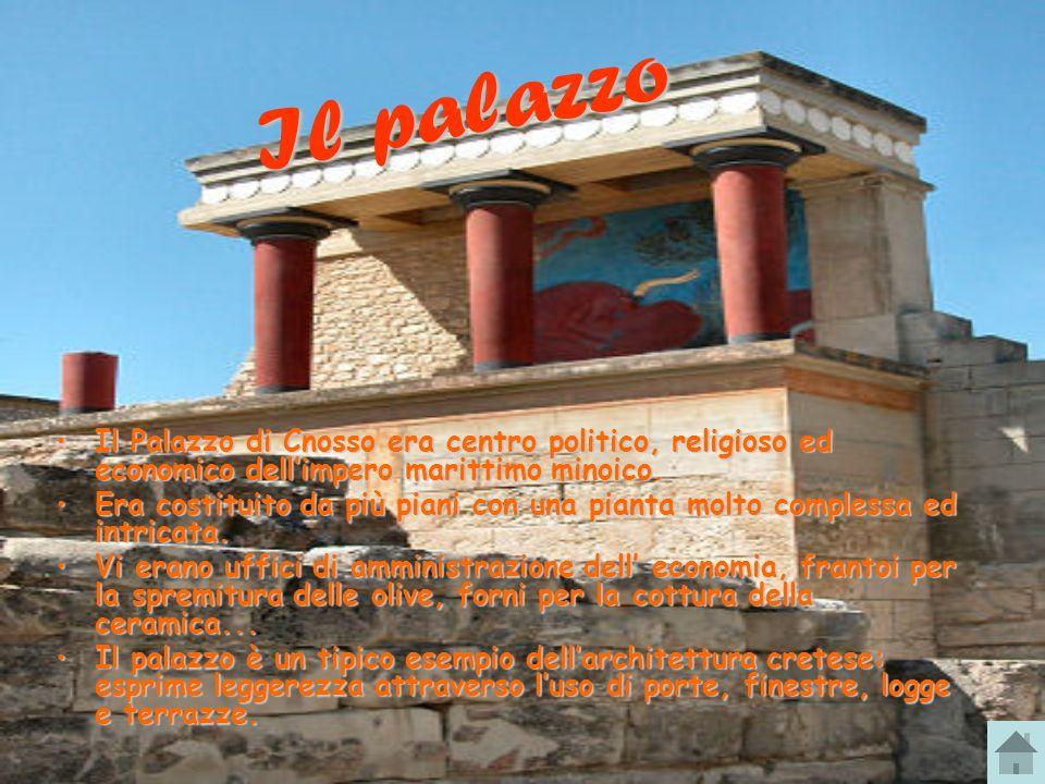 Il Palazzo di Cnosso era centro politico, religioso ed economico dellimpero marittimo minoico.Il Palazzo di Cnosso era centro politico, religioso ed e