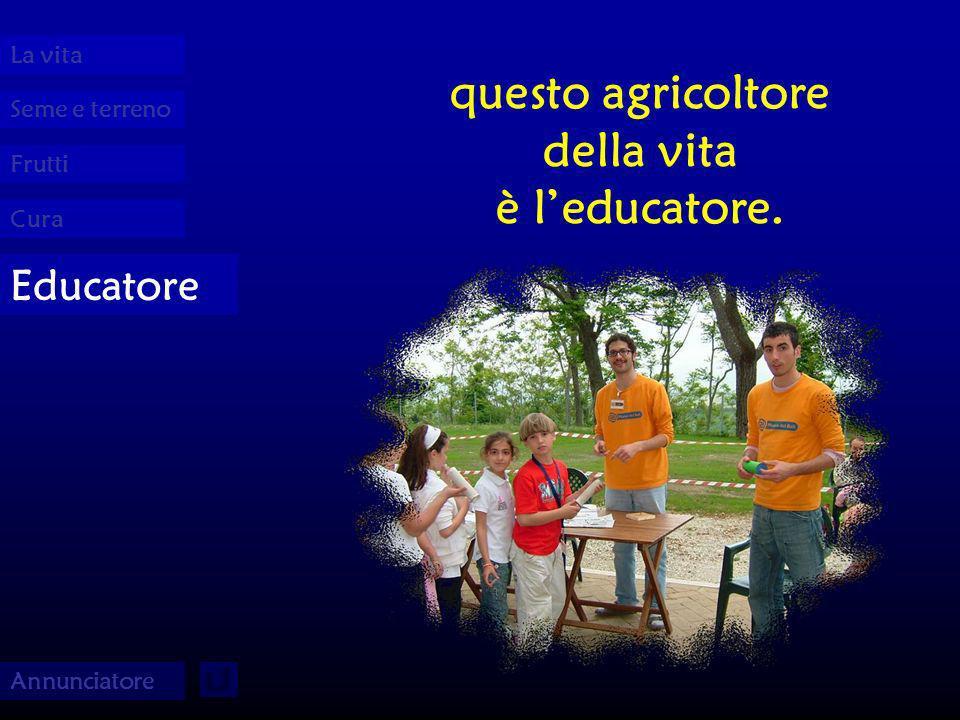 Seme e terreno La vita Frutti Cura Educatore Annunciatore questo agricoltore della vita è leducatore.