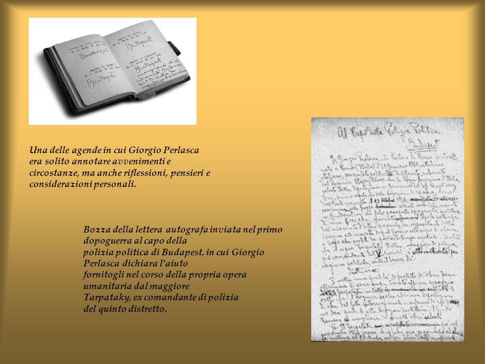 Una delle agende in cui Giorgio Perlasca era solito annotare avvenimenti e circostanze, ma anche riflessioni, pensieri e considerazioni personali. Boz