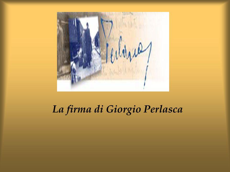 La firma di Giorgio Perlasca