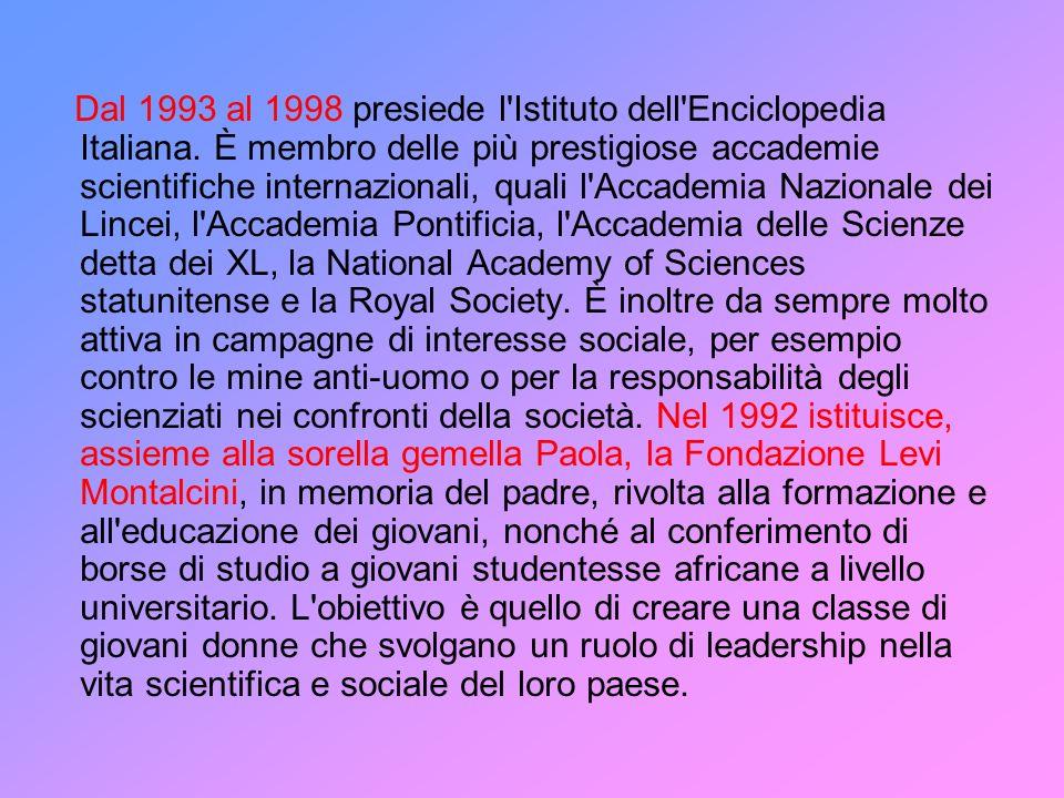 Dal 1993 al 1998 presiede l'Istituto dell'Enciclopedia Italiana. È membro delle più prestigiose accademie scientifiche internazionali, quali l'Accadem
