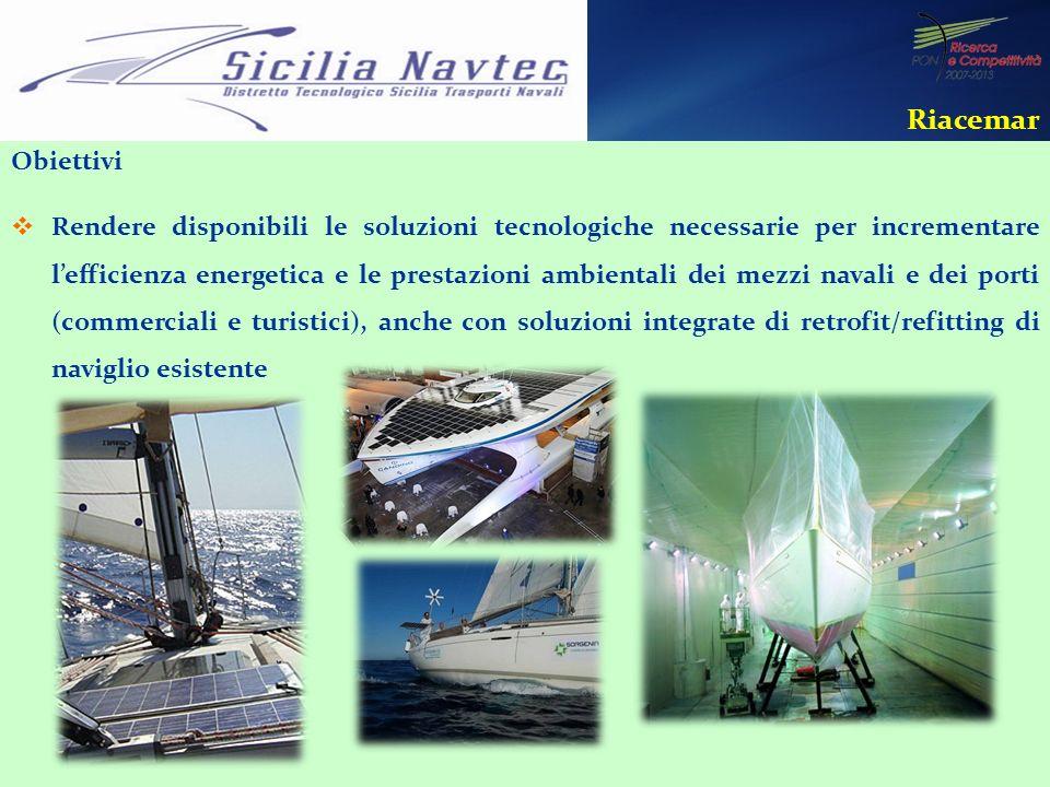 Obiettivi Rendere disponibili le soluzioni tecnologiche necessarie per incrementare lefficienza energetica e le prestazioni ambientali dei mezzi naval