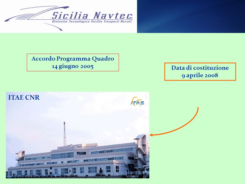 Accordo Programma Quadro 14 giugno 2005 ITAE CNR Data di costituzione 9 aprile 2008