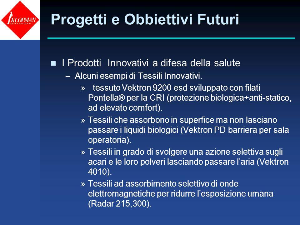 Progetti e Obbiettivi Futuri n I Prodotti Innovativi a difesa della salute –Alcuni esempi di Tessili Innovativi. » tessuto Vektron 9200 esd sviluppato