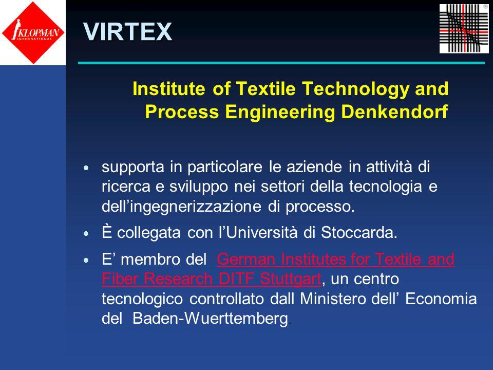 Institute of Textile Technology and Process Engineering Denkendorf supporta in particolare le aziende in attività di ricerca e sviluppo nei settori de