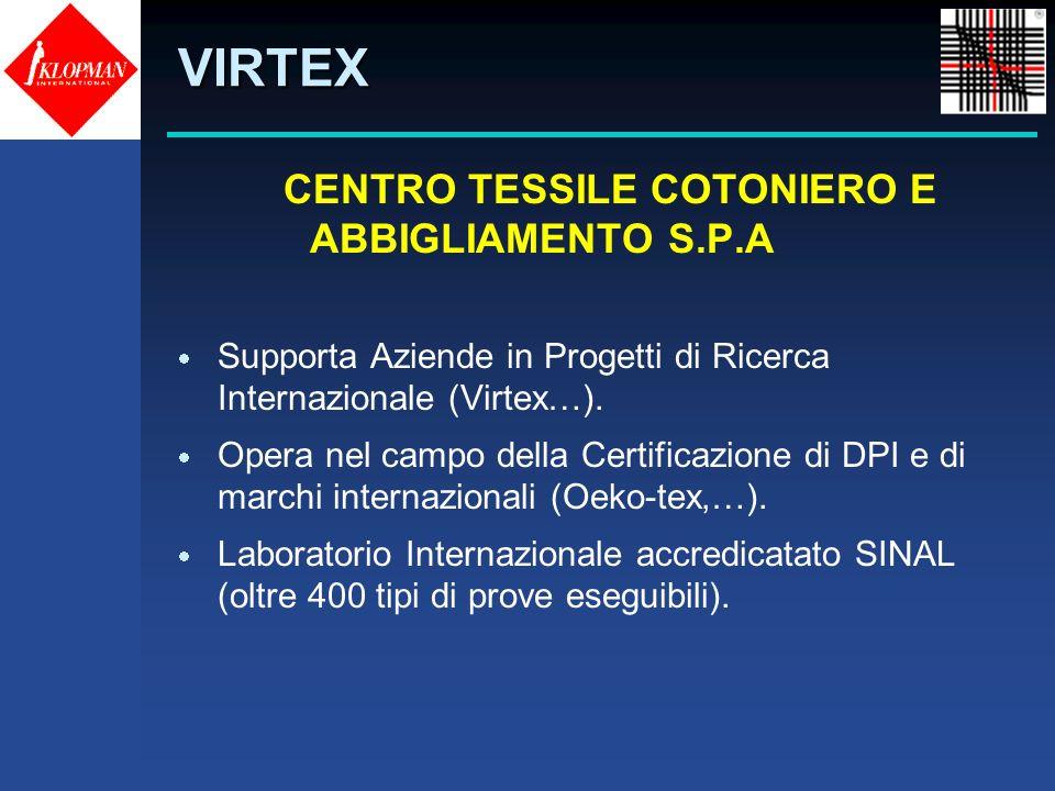 CENTRO TESSILE COTONIERO E ABBIGLIAMENTO S.P.A Supporta Aziende in Progetti di Ricerca Internazionale (Virtex…). Opera nel campo della Certificazione