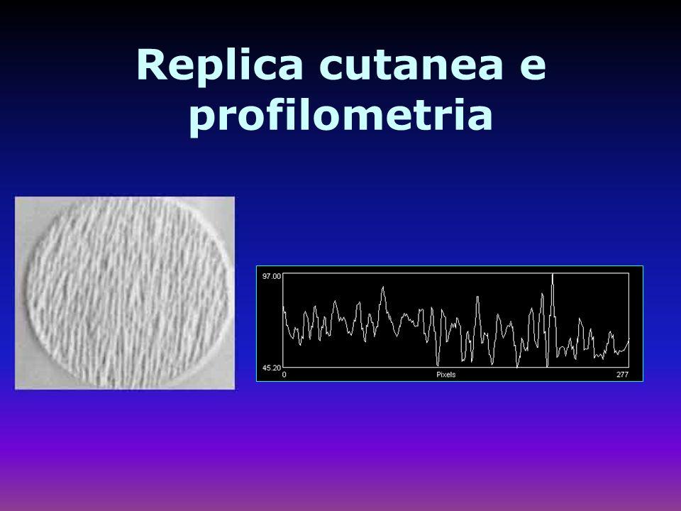 Replica cutanea e profilometria