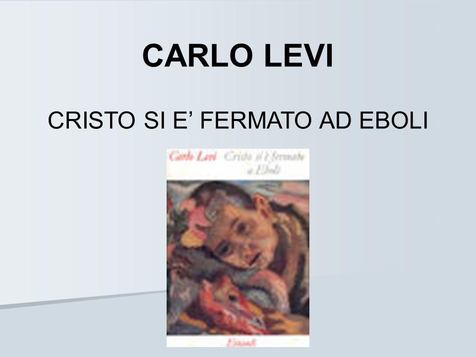 LA VITA Carlo Levi nasce a Torino il 29 novembre 1902, dove trascorre la sua adolescenza e giovinezza.
