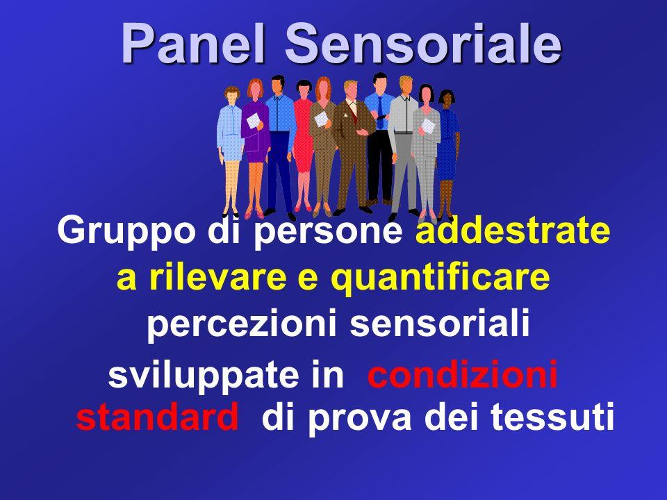Panel Sensoriale Panel Sensoriale Gruppo di persone addestrate a rilevare e quantificare percezioni sensoriali sviluppate in condizioni standard di pr