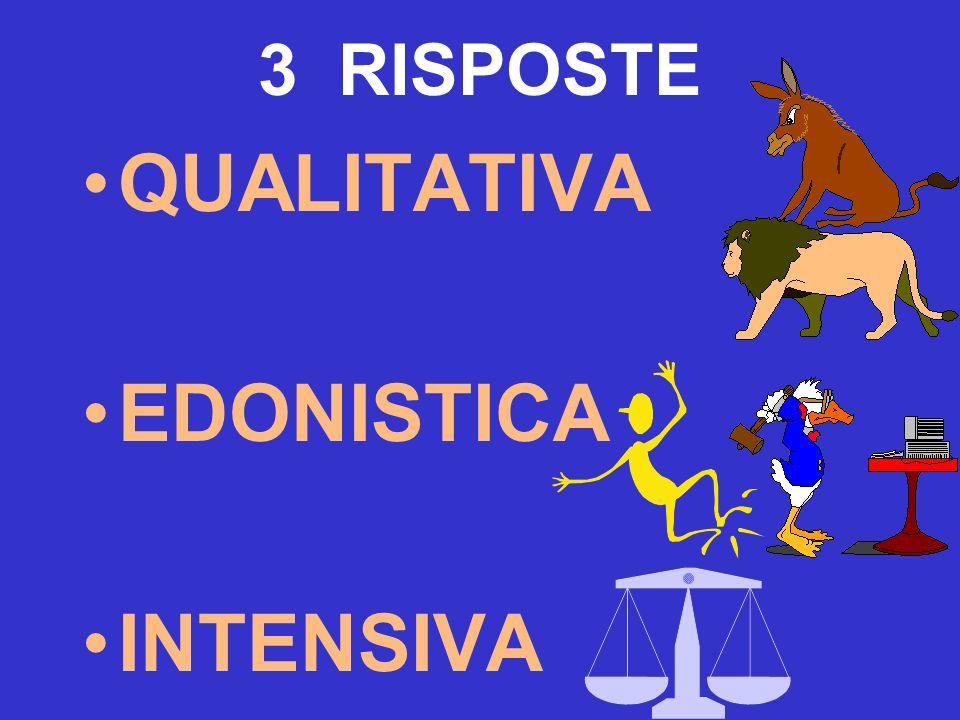 3 RISPOSTE QUALITATIVA EDONISTICA INTENSIVA