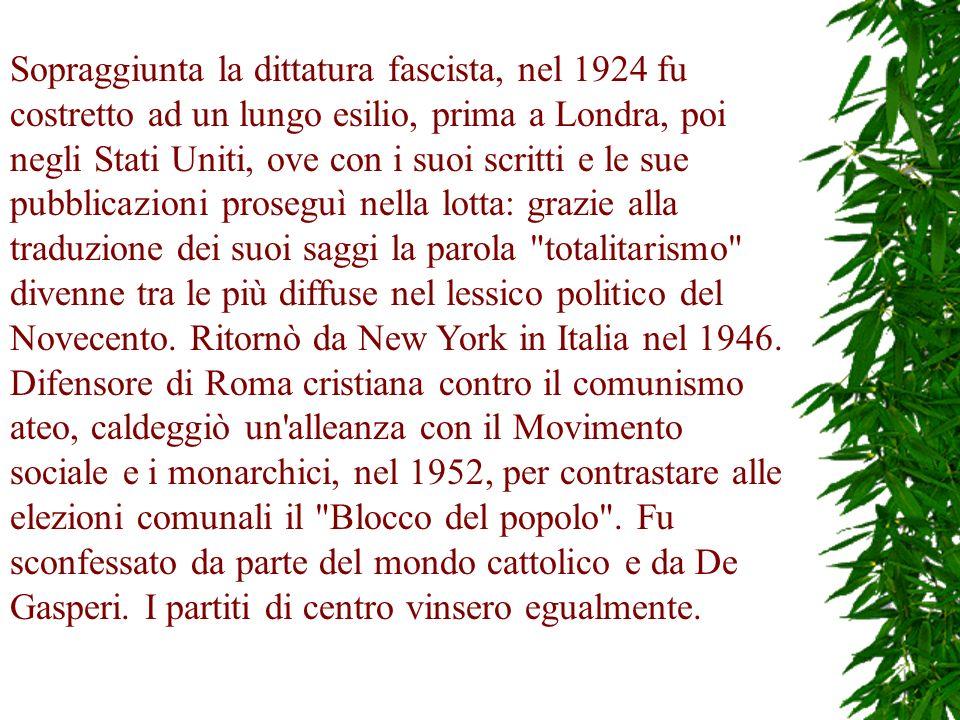 Il presidente della Repubblica Luigi Einaudi nel 1952 lo nominò senatore a vita.