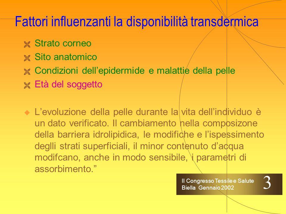 II Congresso Tessile e Salute Biella Gennaio 2002 I patch - le tipologie Mod.