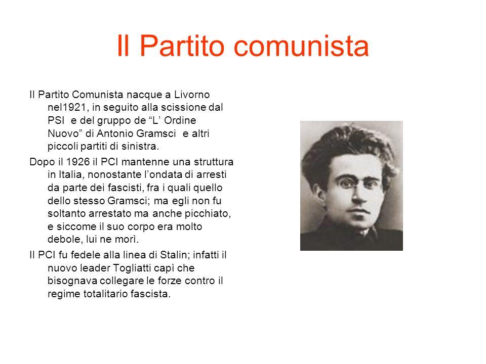 Il Partito Fascista Nel 1919, quando si tennero le elezioni, a Milano si costituirono i fasci di combattimento un nuovo partito fondato da Benito Mussolini.