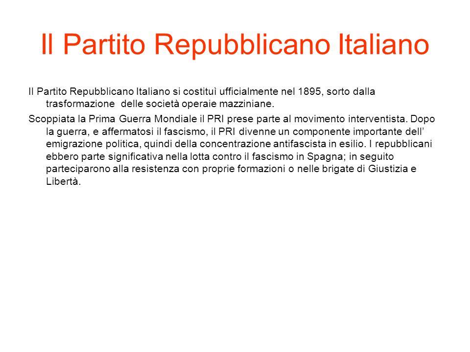 Il Partito Liberale Italiano Il Partito Liberale venne fondato nel1922 da A.