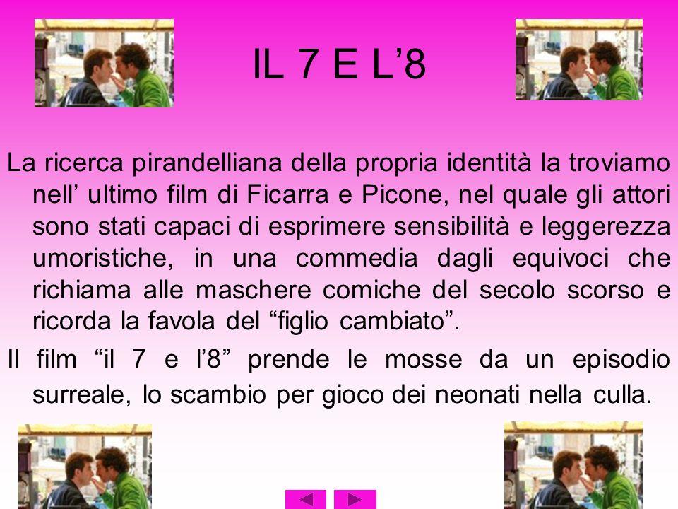 IL 7 E L8 La ricerca pirandelliana della propria identità la troviamo nell ultimo film di Ficarra e Picone, nel quale gli attori sono stati capaci di