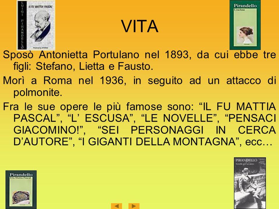 VITA Sposò Antonietta Portulano nel 1893, da cui ebbe tre figli: Stefano, Lietta e Fausto.