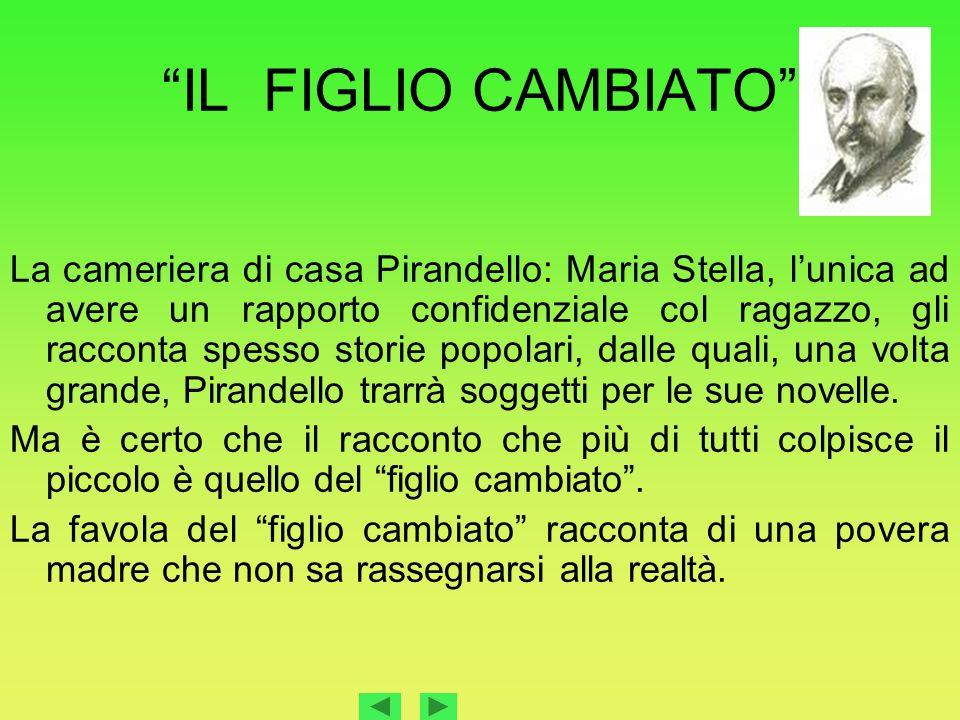 IL FIGLIO CAMBIATO La cameriera di casa Pirandello: Maria Stella, lunica ad avere un rapporto confidenziale col ragazzo, gli racconta spesso storie po